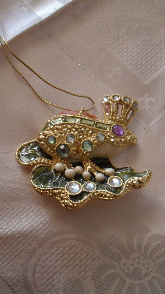Metal Frog Prince Bejeweled Metal Frog by ParisianPrairieCharm, $6.00