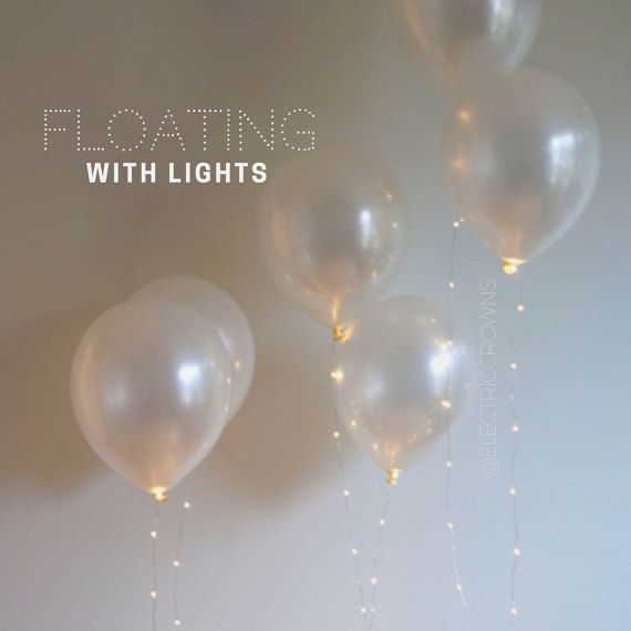 Pretty bachelorette party decor. Twinkle lights with balloons✨ ✨ Create a beautiful atmosphere for your bridal shower or special event!  Just twist tie them onto your helium balloons and watch them float! Such a gorgeous way to light up a room. Battery string lights that are perfect for ANY event.  One latex balloon per string light.   Balloons: Pearl white & black Choose your LEDs: Warm white or cool white Ordering is EASY. Just click the ADD to cart button, on the right, make your choic...