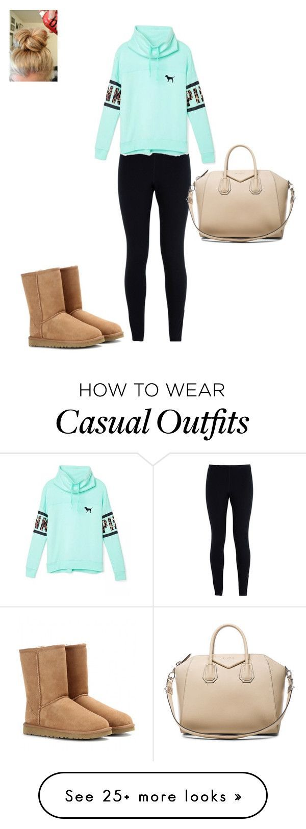 """Casual winter day out"" by hammiegrl on Polyvore featuring NIKE, UGG Australia, Victoria's Secret, Givenchy, women's clothing, women, female, woman, misses and juniors"