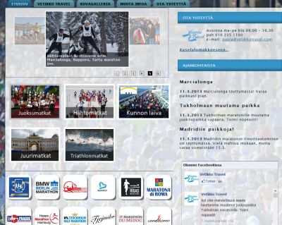 Urheilumatkat - sivusto. Juoksuumatkat, maratonmatkat, hiihtomatkat, pyörailymatkat, thriathlon,.. Kotisivut http://www.teamprog.fi/