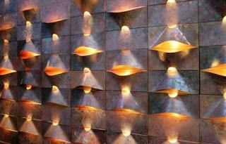 """Design & Muito Mais: """"Lum"""" - sistema de revestimento de parede feito em cobre, com luz embutida"""