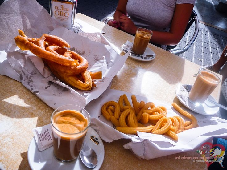 Probably the best breakfast possible: churros y un cafelito. Sevilla, Andalucía, España. #churros #cafe #breakfast #desayuno #Spanishfood