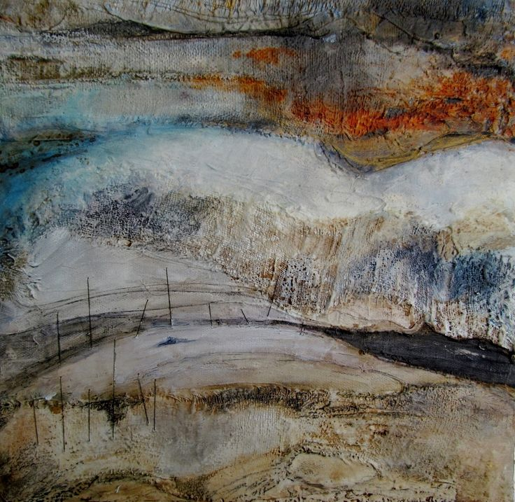 Obtaining texture and building colour. Louise O'Hara - DrawntoStitch