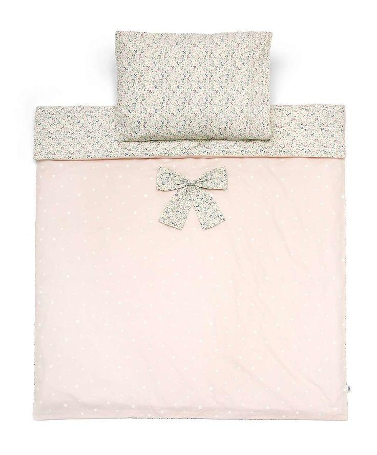 Cot Bed Duvet Cover and Pillow Case Set - Millie & Boris Pink - Millie & Boris Girls - Mamas & Papas