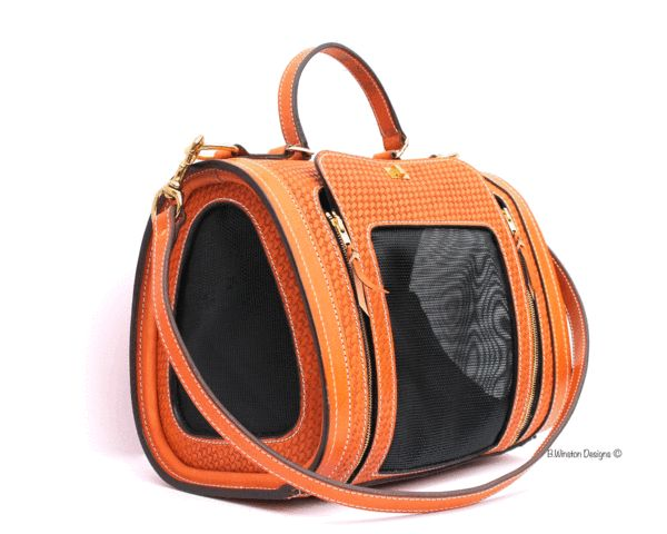 Luxury Pet Carrier Collection by Becky Winston Handmade in LA by B. Winston Designs, Each bag is made-to-order special for you and your pets, an exclusive style