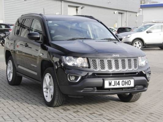 Used 2014 (14 reg) Black Jeep Compass 2.2 CRD Limited 5dr for sale on RAC Cars