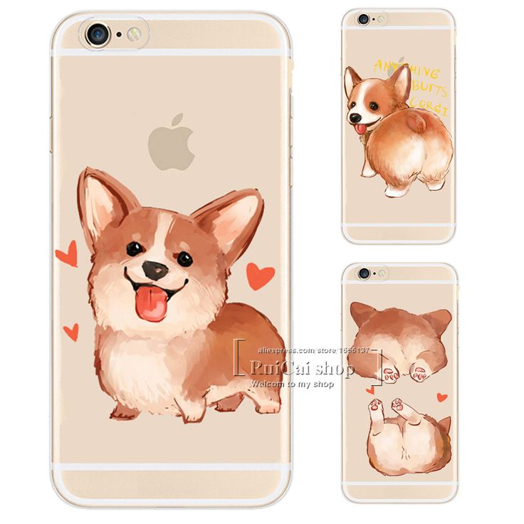 Super Cute Corgi Design Soft TPU Phone Cases For iPhone 5 5S SE 6 6S 7 Plus Cartoon Dog Silicone Case Cover For iPhone 7Plus 5.5 #>=#>=#>=#>=#> Click on the pin to check out discount price, color, size, shipping, etc. Save and like it!