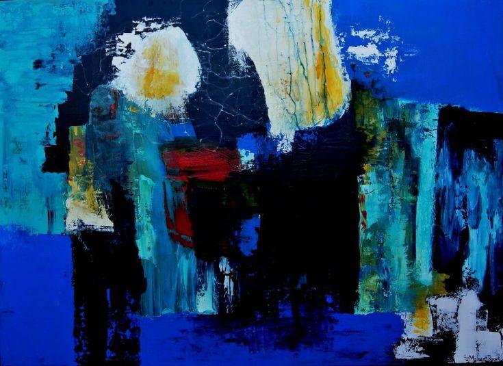 Maleen Rosel - Abstrakt maleri 80x110 cm