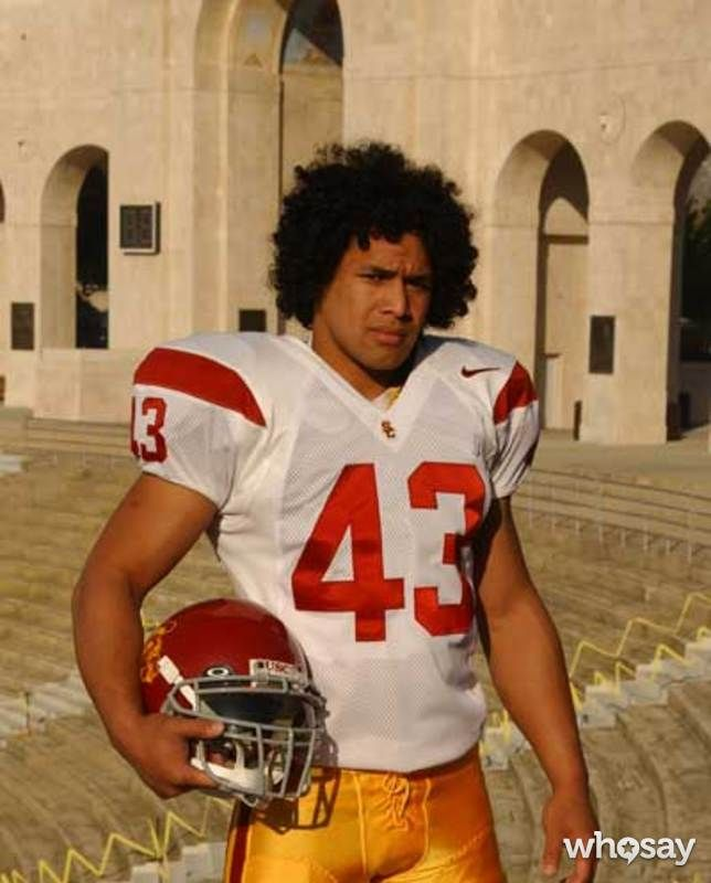 Polamalu USC when the hair was in its beginning stages