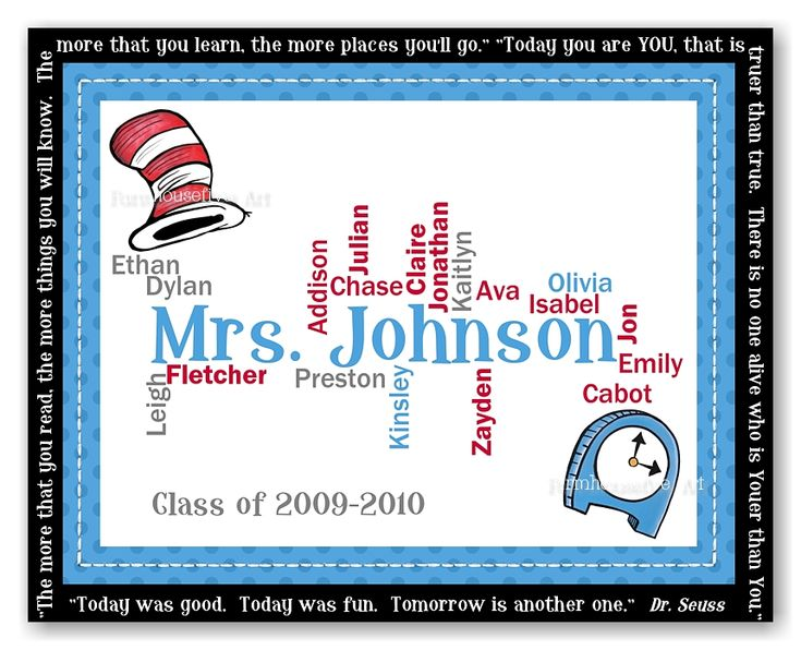 WORDLE  Dr. Seuss Welcome back to school bulletin board idea- could be modified for library- words could be titles of books or things we'll learn in library or library words...