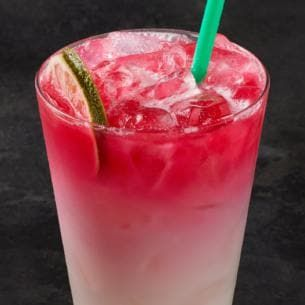Ombré Pink Drink | Starbucks Coffee Company  -----  This refreshing Ombré Pink Drink combines our light, fruity Cool Lime Starbucks Refreshers™ Beverage with cool, creamy coconutmilk and a splash of Teavana® Shaken Iced Passion Tango™ Tea, for a bright burst of hibiscus notes.