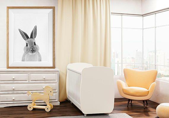 Kwekerij konijn Wall Art Print Woodland dierlijke kunst