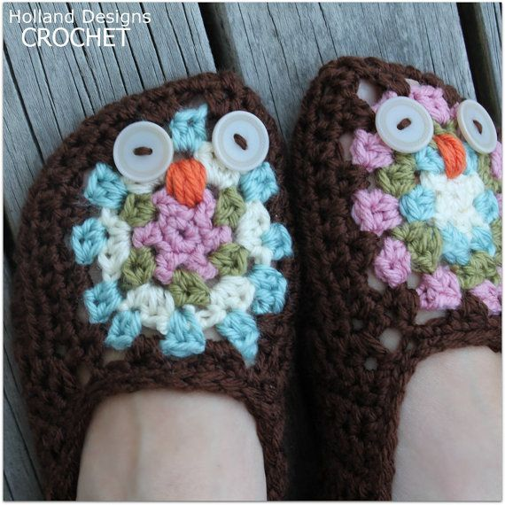 46 best images about Ladies & Mens Slippers Crochet ...