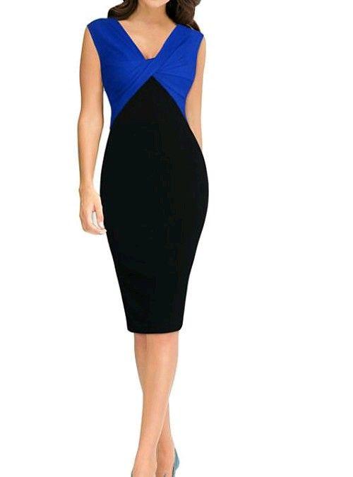 Fin klänning i svart blå a70d4bbf4111c