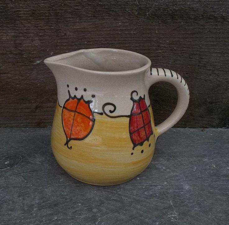 """Saftkrug Milchkrug Milchtopf  0,75l  Keramik pitcher jug """"Tom"""" in HaWe"""