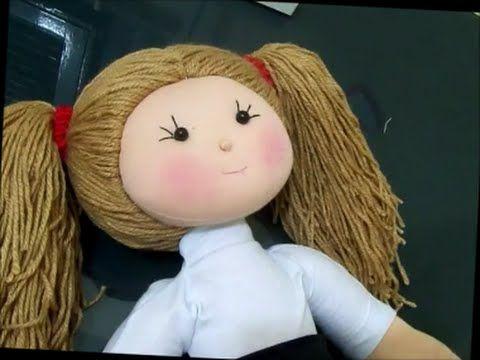 Como fazer cabelo de boneca (Maria Chiquinha) diy