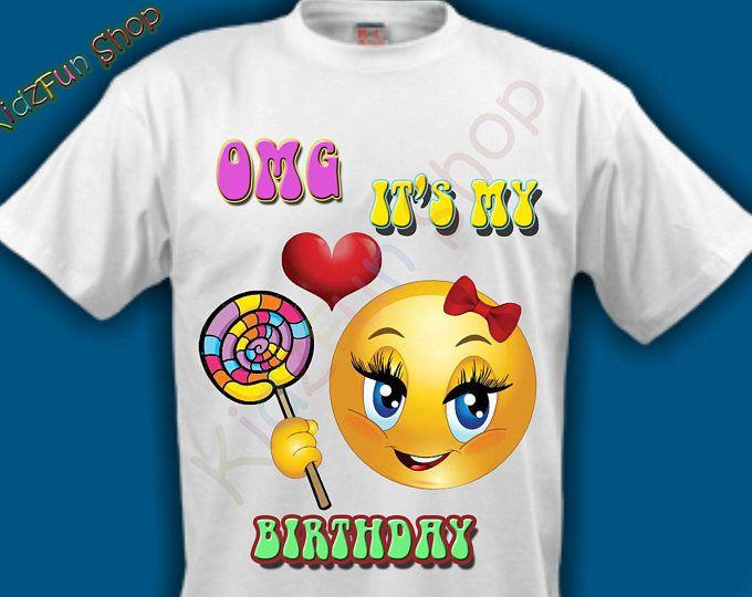 Emoji Birthday Girl High Resolution Image Iron On Transfer,INSTANT DOWNLOAD