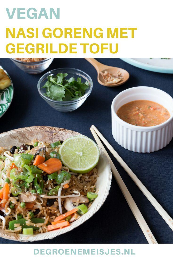 Vegan Nasi Goreng met gegrilde tofu
