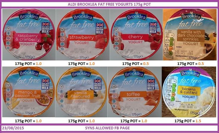 Aldi yogurt syns