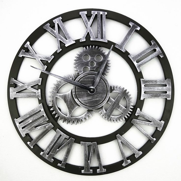 Vintage Wooden Wall Clock Retro Gear Wandklok Clocks Watches Design Relojes Decoration Wanduhr