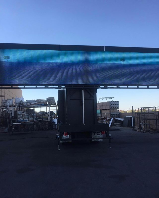 """P3MM / 3 sided Fold out LED truck. 2 sides screens 15ft, 1 rear screen 9ft. When spread open 39ft span of screen. The Hydraulic lifts it up in the air 12ft high for the world to see.  #ledmarketing #ledscreens #ledscreenrentals #ledwalls #ledlightingrentals #nycevents #njevents #lievents #digitalmarketing #weddingproposals #brandmarketing #corporateevents #productmarketing #uniqueweddingproposal #ledbillboards #ledbillboardtrucks #extrememarketing #uniquemarketing #uniquemarketing…"
