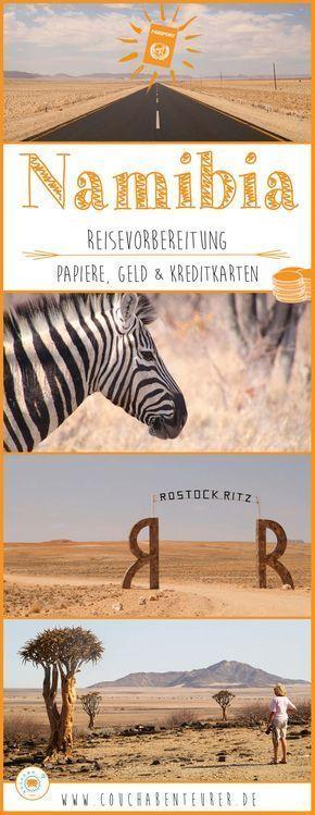 Namibia Ι Reisevorbereitung – Papiere, Geld & Kreditkarten – Jasmin Podszus