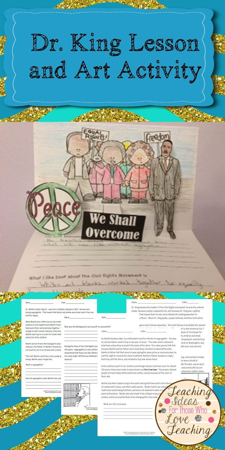 Dr Martin Luther King Jr Lessons And Pop Up Book