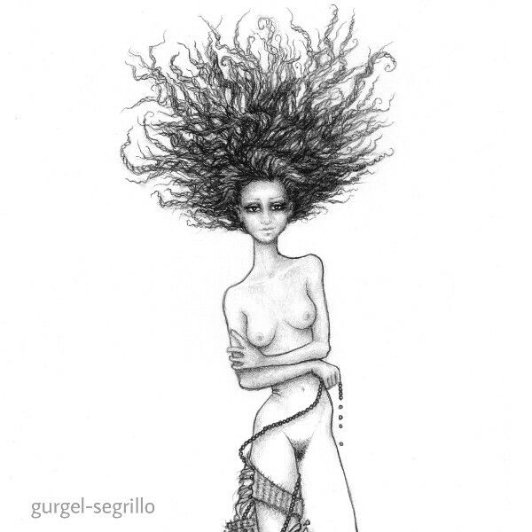 drawing series ~ figurative explorations on cross-cultural identity and womanhood, empowerment and femininity, by gurgel-segrillo