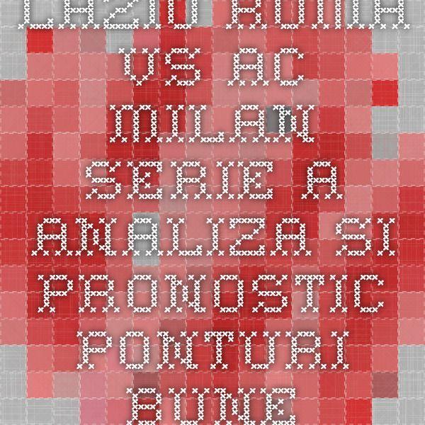 Lazio Roma vs AC Milan - Serie A - analiza si pronostic - Ponturi Bune