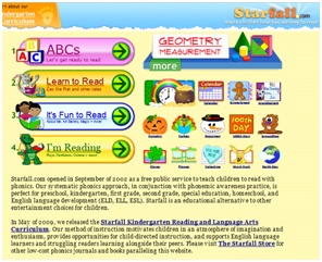 www.starfall.com is a great website for kids to learn their abc's.