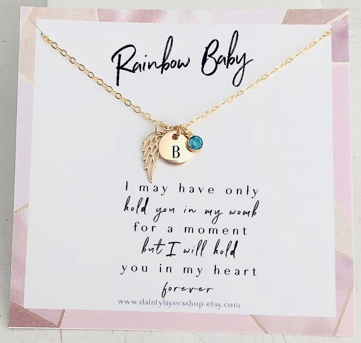 hope necklace precious baby infant loss 9mm miscarriage rainbow necklace hope after loss rainbow baby hope after the storm