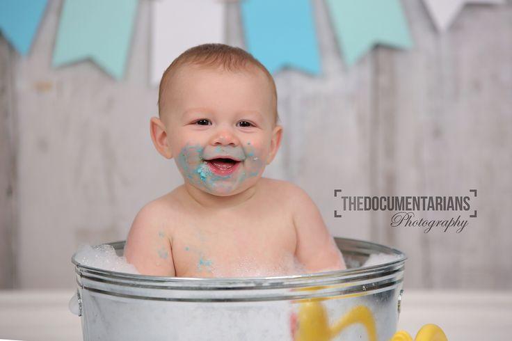 1st Birthday bath photos by The Documentarians Photography