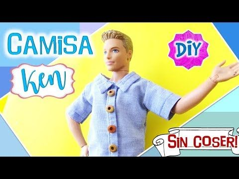 DIY| Playera Muñeco KEN de Barbie SIN COSER!! FACIL! Manualidad muñecas Barbie - YouTube