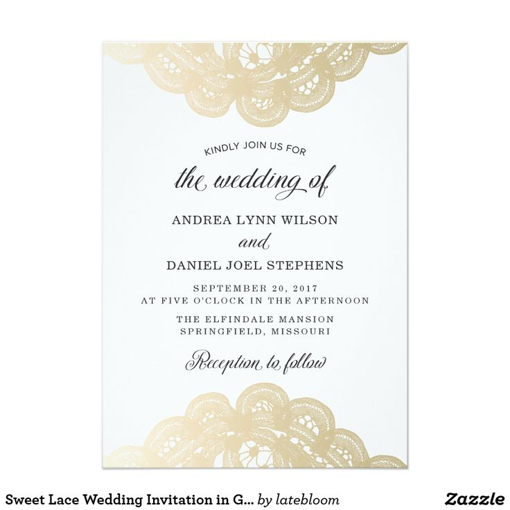 38 best modern weddings images on pinterest bridal invitations sweet lace wedding invitation in gold stopboris Image collections