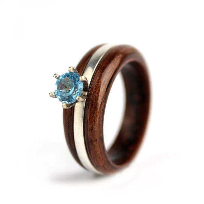 """Sky Blue Harmony Ring"" 