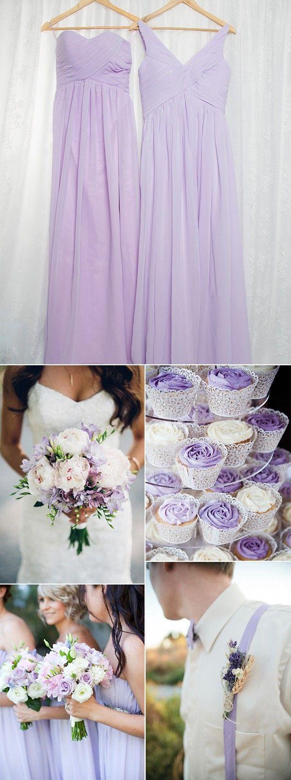 light purple lavender bridesmaid dresses and wedding ideas