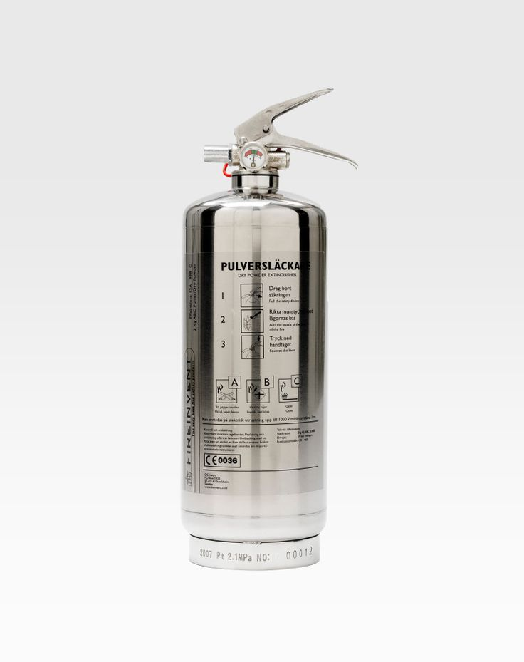 Fire Extinguisher 2kg Silver | FireInvent