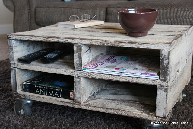 Beyond The Picket Fence: Magazine Pallet Table