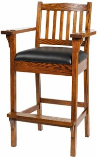 Amish Outlet Store : Game Room Chair in Oak