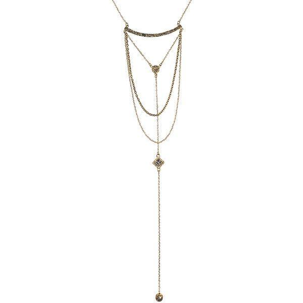 Gold Kinkaku-Ji Collar LariatNecklace 24K Gold