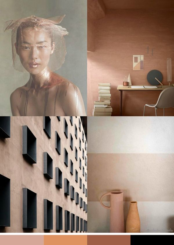 The main features of the Earth Color Trend 2016/17 are terracotta, burgundy, rust, ocher, pale pink and cinnamon shades which can be applied to many fields.