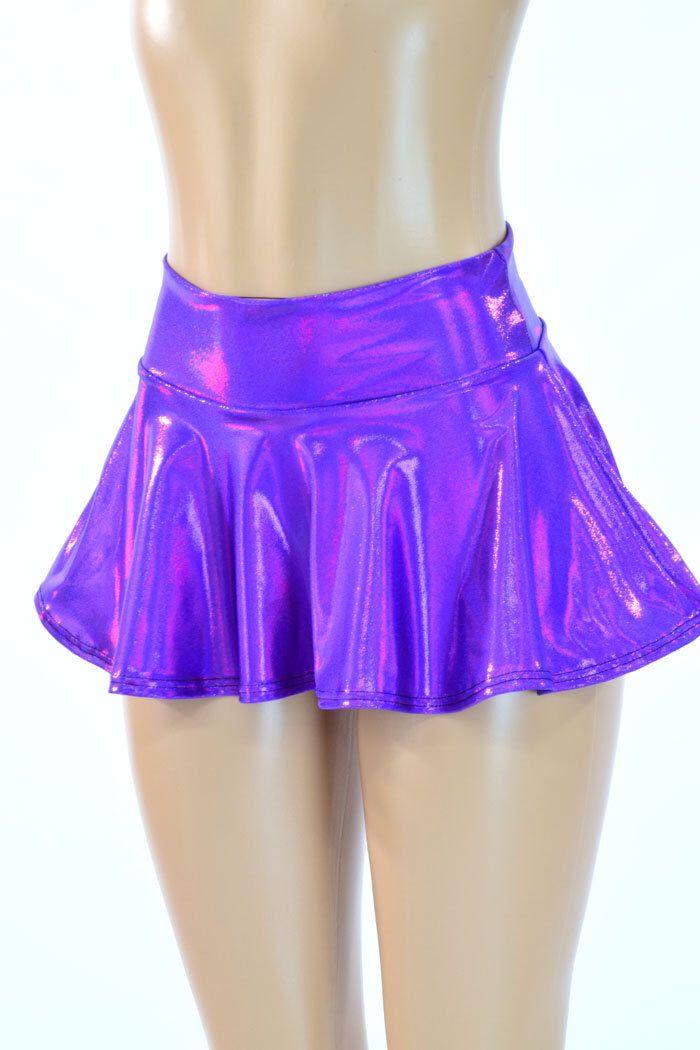 Purple Holographic Metallic Circle Cut Mini Skirt Rave Clubwear EDM  -150201 by CoquetryClothing on Etsy https://www.etsy.com/uk/listing/216751603/purple-holographic-metallic-circle-cut