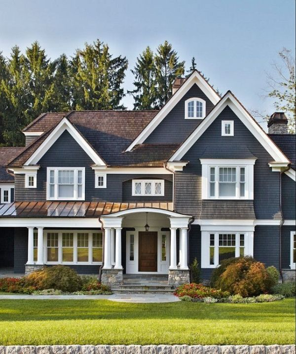With Blue Siding Homes: 81 Best House Exterior Colours Images On Pinterest