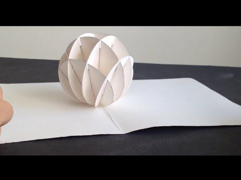 How To Make 3D Christmas Snow Ball Pop Up Card Kirigami Tutorial - YouTube