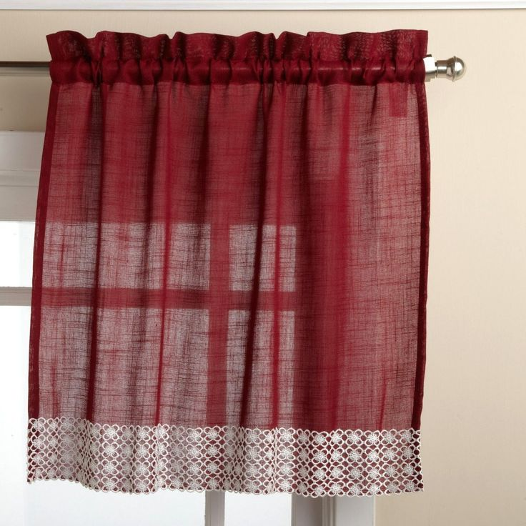 Set Includes 2 Tier Curtains.  Pattern: