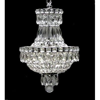 EverythingHome French Empire 3 Light Crystal Chandelier Reviews