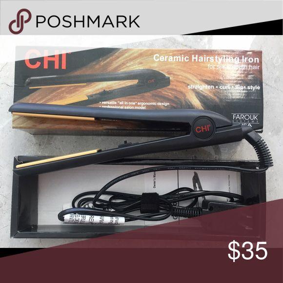 Sale‼️ Chi Flat Iron Black Digital 1 Inch Ceramic New Chi Flat Iron Hair Straightener Black Digital 1 Inch 100% Ceramic Plates. Chi Accessories Hair Accessories
