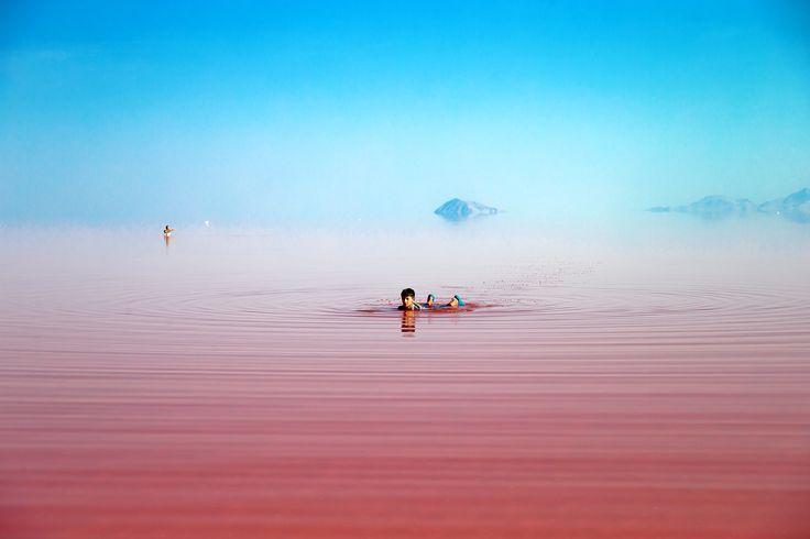 Il lago di Urmia, nel nord dell'Iran. - (Ebrahim Noroozi, Ap/Ansa)