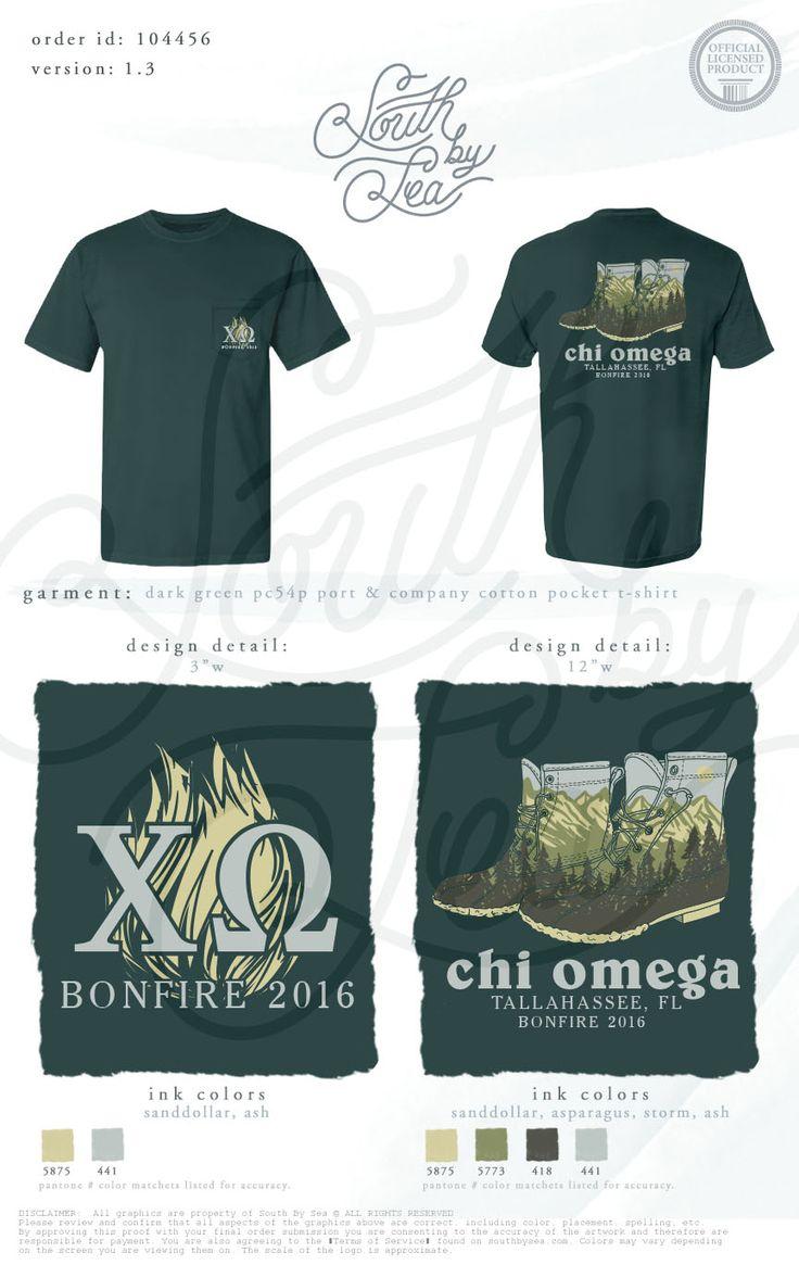 chi omega chi o xo bonfire tallahassee boots shirt design - Homecoming T Shirt Design Ideas