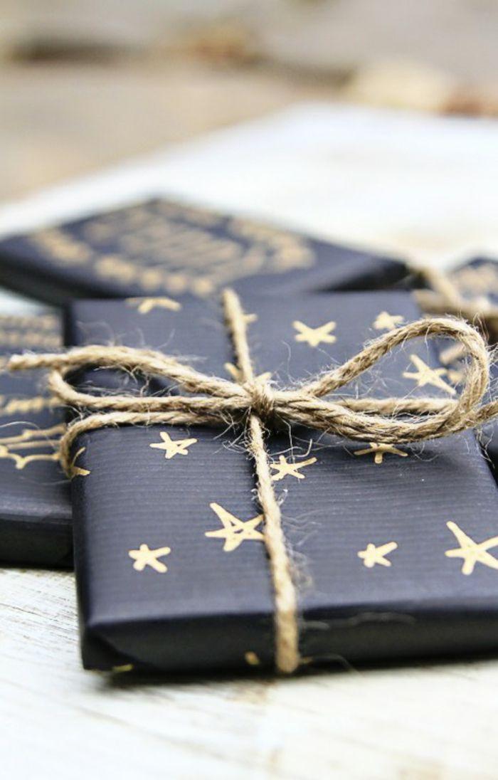 109 weihnachtliche Ideen zum Geschenke verpacken Black